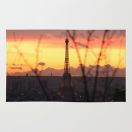 The Eiffel Tower at Sunset Rug