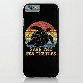 Vintage Save The Sea Turtles Animal Right Turtle iPhone Case