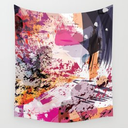 7: a vibrant abstract in jewel tones Wall Tapestry