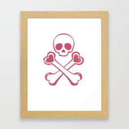 Valentine's day T-shirt Love With Jolly Roger Framed Art Print