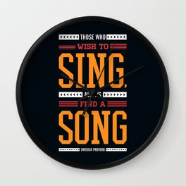 Lab No. 4 Who Wish Swedish Proverb Famous Singer Quotes Wall Clock