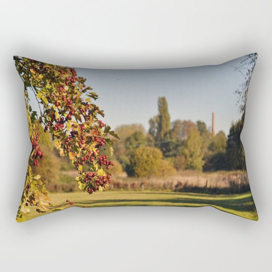 The distant Mill Rectangular Pillow
