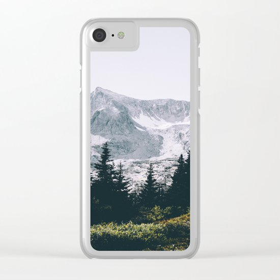 Mountains #faded Clear iPhone Case