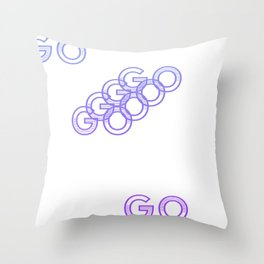 get up & Throw Pillow
