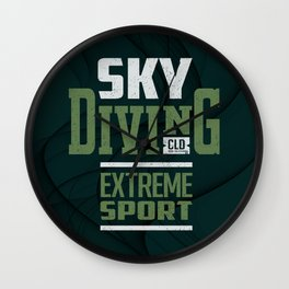 Sky Diving Extreme Sport Wall Clock