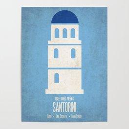 Santorini - Minimalist Board Games 01 Poster