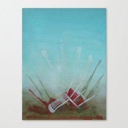 Landed Canvas Print
