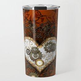Steampunk, wonderful heart Travel Mug