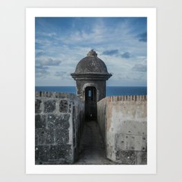 Fortification walls in Puerto Rico Art Print