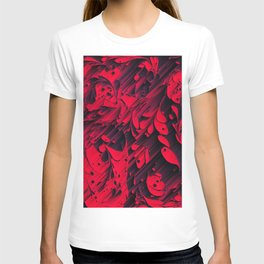 Red glitched T-shirt