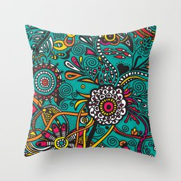Flowers of joy Throw Pillow