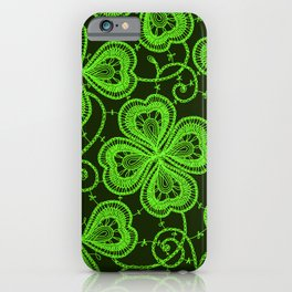 Clover Lace Pattern iPhone Case