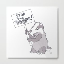 BADGER CULL PROTEST Metal Print