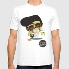 Elvis Zombie Mens Fitted Tee White MEDIUM