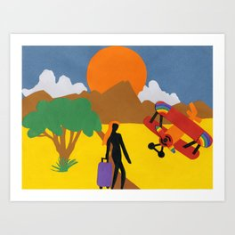 The Possibilities are Endless- Girl & Bi-Plane Art Print
