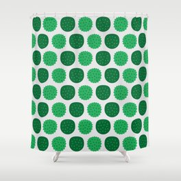 Dotty Durians - Singapore Tropical Fruits Series Shower Curtain