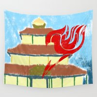 fairy tail Wall Tapestries featuring Fairy Tail Segmented by JoshBeck