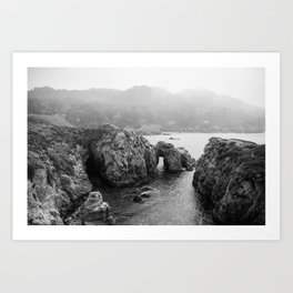 Ocean Arches - Black and White Landscape Photography Art Print