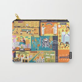 Tel Aviv Map - Montefiore Quarter Carry-All Pouch