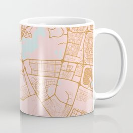 Dubai map, United Arab Emirates Coffee Mug