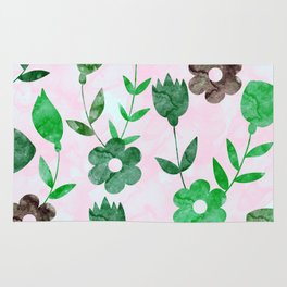 Watercolor Floral IV Rug