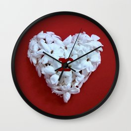 Red Monogrammed Heart R Wall Clock