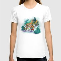 nordic T-shirts featuring Nordic Kids on green by Lori Keehner