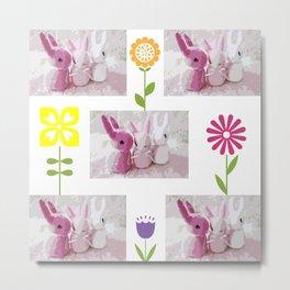 Little Bunny Foo Foos Metal Print