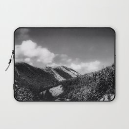Big Sky Country - Black And White Laptop Sleeve