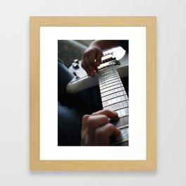 Hands on guitar Framed Art Print