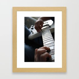 Hands on guitar Framed Art Print