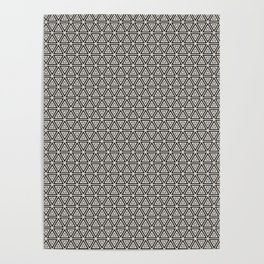 Decorative Triangles Pattern Poster