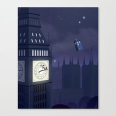 Second Star to the Right, Straight on to Gallifrey Canvas Print