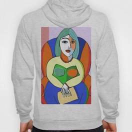 Woman With A Kindle Hoody