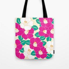 Shades of Tsubaki - Pink & White Tote Bag