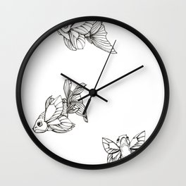 FlutterFish Wall Clock
