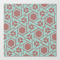 hexagon Canvas Prints featuring Hexagon by Jerod Barker