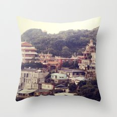 Mountain Town Throw Pillow