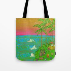 VW Beatle Bug Surf Paradise Adventure Tote Bag