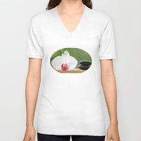 relax V-neck T-shirts featuring Relax by Tanja Riedel