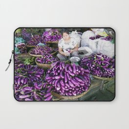 Eggplant Vendor, Myanmar Laptop Sleeve