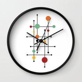 Mid Century Modern 1-4 Wall Clock