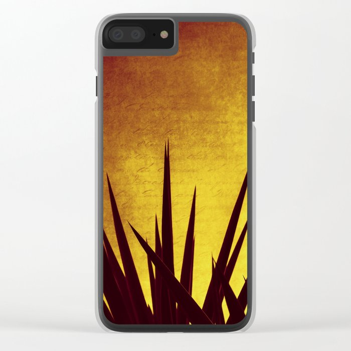 Yucca Sunset Clear iPhone Case