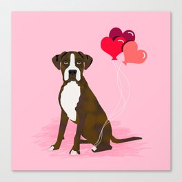 Boxer dog lover valentines day heart balloons must have gifts for Boxers Canvas Print