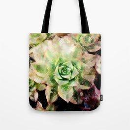 Colorful Succulent Watercolor Tote Bag