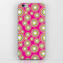 Circles on pink background iPhone Skin