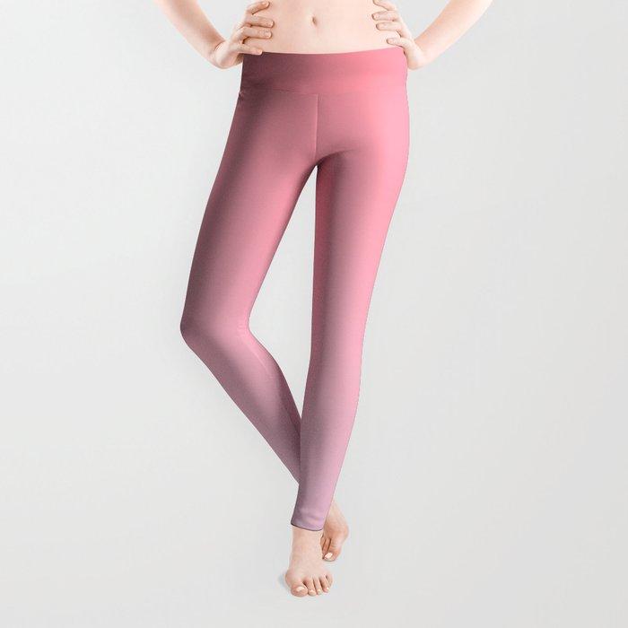 Pastel Ombre Rose Color Gradient Millennial Pink Lilac Cute Pattern Leggings