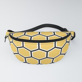 Yellow, black and white honeycomb pattern Fanny Pack