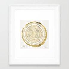 Douglas Fir – Gold Tree Rings Framed Art Print