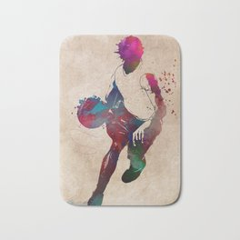 basketball player #basketball #sport Bath Mat